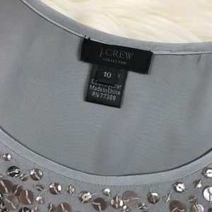 J. Crew Tops - J. Crew Collection Grey Silk Sequin Tank
