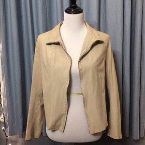 HACHE Jackets & Blazers - Cream Leather Jacket by HACHE