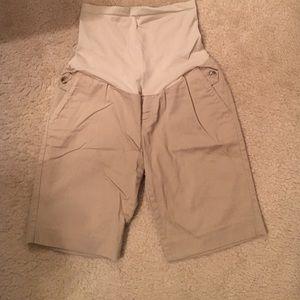 Motherhood maternity khaki Bermuda shorts