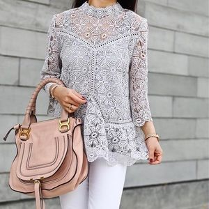 chicwish Tops - Art of crochet top by Chicwish