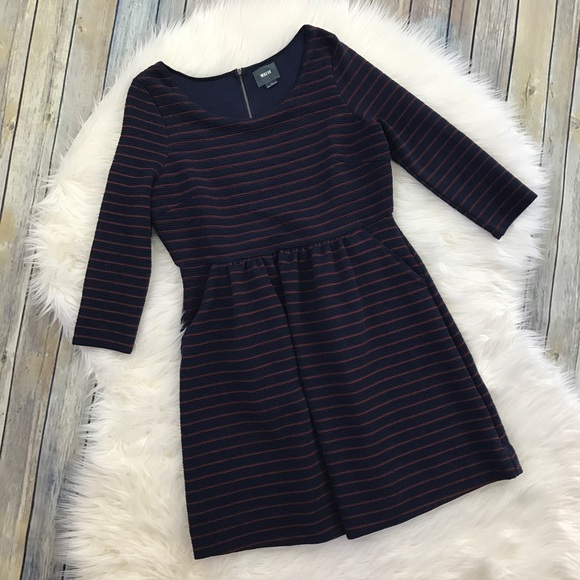 Anthropologie Dresses - Maeve Anthropologie Navy Striped Brenna Dress