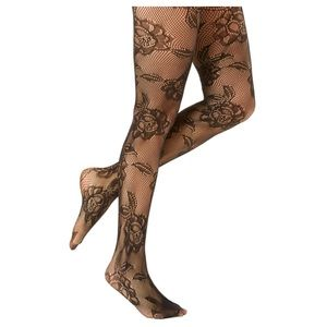 K. Bell Accessories - K. Bell Floral Cutout Tights