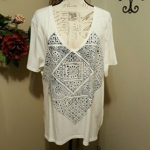 Old Navy V-Neck Relaxed Fit Tee XXL