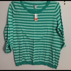 Old Navy green striped sweater