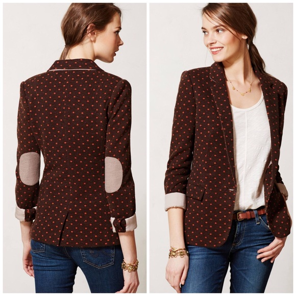 Anthropologie Jackets & Blazers - {Anthropologie} Cartonnier Brown dotside Blazer