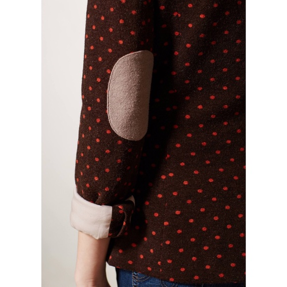 Anthropologie Jackets & Coats - {Anthropologie} Cartonnier Brown dotside Blazer