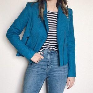 L'AGENCE Jackets & Blazers - L'agence seaport blue Moto jacket 6