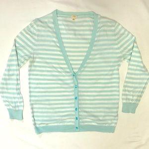 J. Crew Sweaters - J Crew Spring Cardigan 💐Pretty Aqua Buttons!