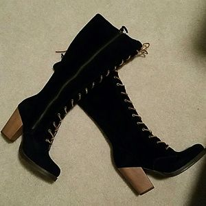 deda26ea1c1 latigo Shoes - Latigo Frederica Lace Up Tall Boot