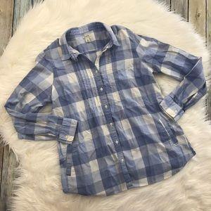 L.L. Bean Tops - LLBean Blue & White Gingham Plaid Shirt