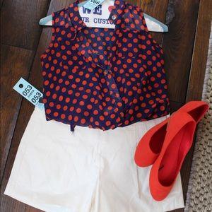 Pinc Premium Tops - Pinc Premium red polka dot blouse