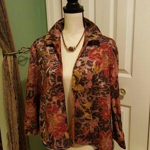 Reversible Tapestry Swing Jacket.