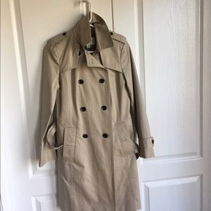 Banana Republic trench coat.