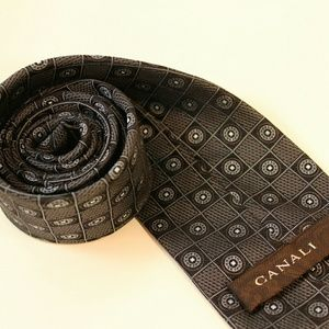 Canali Other - Canali Italian Gray Silk Tie