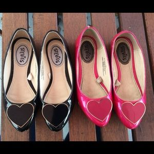 Stevies Other - Lot of 2 pairs of Stevies patent leather flats