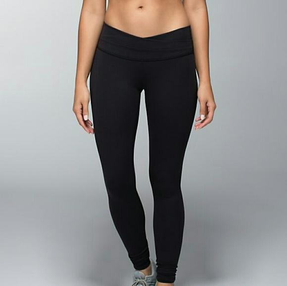 03f66aae6f lululemon athletica Pants | Rare Black Lululemon Leggings V Front ...