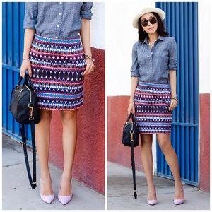 J. Crew Dresses & Skirts - J. Crew Salon Mini Skirt in Gemstone Print
