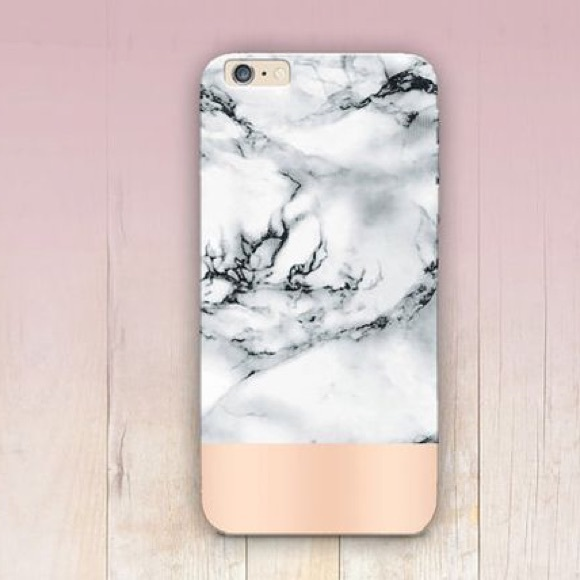 size 40 7fd40 4d704 NWT. Marble and rose gold iPhone 6/6S phone case NWT