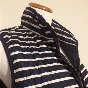 Old Navy Jackets & Blazers - Navy and white striped excursion vest