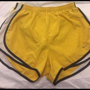 Yellow Nike shorts size medium