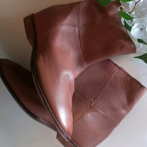 Genuine Leather Ankle Booties