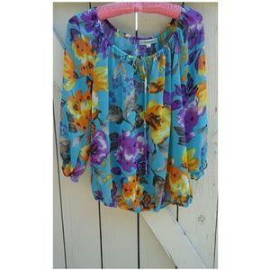 Pleione Tops - Gorgeous Floral Print Top