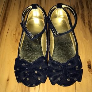 Gymboree Other - Navy Velvet with gold sparkle dress shoes