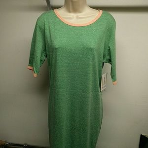 Green LuLaroe Julia dress