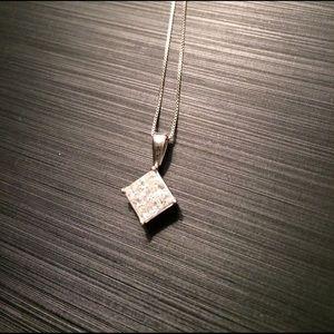 Zales Jewelry - Platinum and diamond Zales necklace