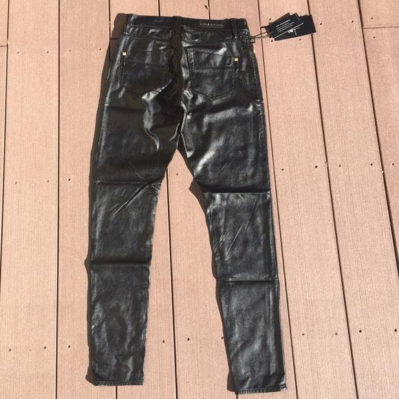 2412dc06494ae Rock & Republic Pants | Rock Republic Black Pleather Skinny New 0 ...