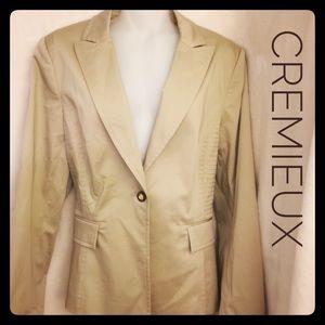 Daniel Cremieux Jackets & Blazers - Cremieux Classic Tan Lined Blazer Stitch Sides