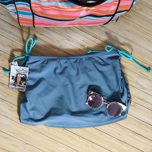 Free Country Other - NWT FREE COUNTRY Gray Skirted Swim Bottom Sz Med