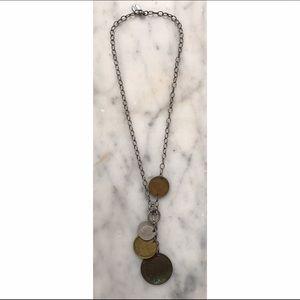 VINTAGE Julio Handmade Coin Necklace