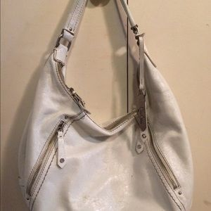 Cole Haan authentic white leather chic purse!