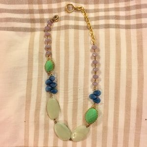 David Aubrey Glass, Resin and Stone Necklace
