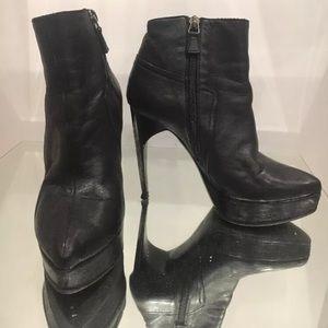 Lanvin Shoes - Authentic Lanvin Black Leather Booties Size 37/7