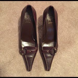 Joan & David Shoes - Circa Joan & David Dark Brown Heels Size 6.5