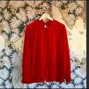 Vintage Diane Von Furstenberg Red Blouse