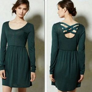Darling green Eloise dress by Anthropologie