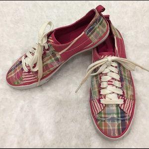 "Coach Shoes - 🎈🎈COACH pink ""suzzy""'signature tennis shoes."