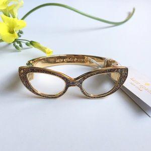 NWT Kate Spade Gold Glitter Bracelet Bangle