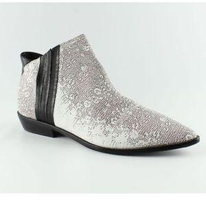 L.A.M.B. Shoes - L.A.M.B. Memento white leather booties size 8.5