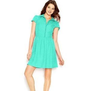 Kensie Dresses & Skirts - Kensie textured dot dress in mint green sz M