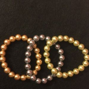 Kenneth Jay Lane Jewelry - S/3 faux pearl bracelets.🎁Great bridesmaids gift.