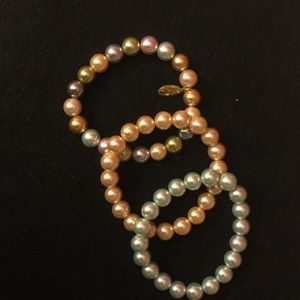 Kenneth Jay Lane Jewelry - S/3 faux pearl bracelets.🎁Great bridesmaids gifts