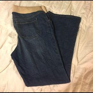 Old navy maternity bluejeans