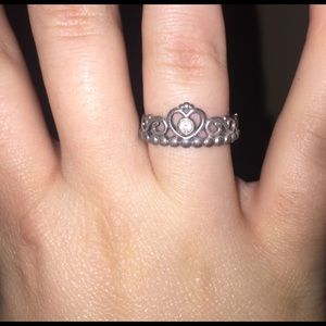 b2ff06d41 Pandora Jewelry | Princess Crown Ring Silver | Poshmark