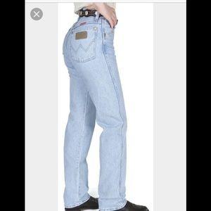 Wrangler Denim - ✔️VINTAGE✔️light wash Wrangler worn wrangler jeans