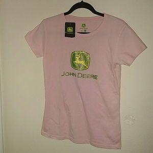 John Deere Tops - Pink John Deere shirt