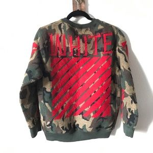 Barneys New York Tops - AUTHENTIC OFF WHITE CAMO SWEATER